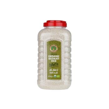 Organic Larder Organic Himalayan White Bsmati Rice 4.5Kg
