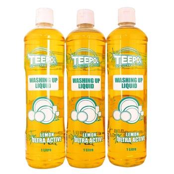 Teepol Washing Up Liquid Regular 3 X 1 ltr