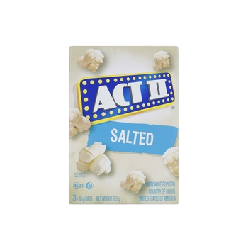 Act Ii Microwave Popcorn Salted Flavour 255g