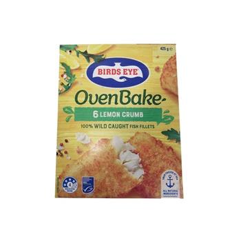 Birds Eye Oven Bake  6 Lemon Crumb Hoki Fish Fillets 425g