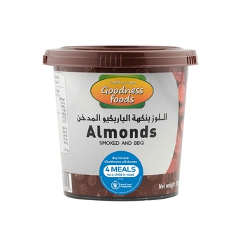 Goodness Foods Almonds Smoked & Bbq Jar 200g
