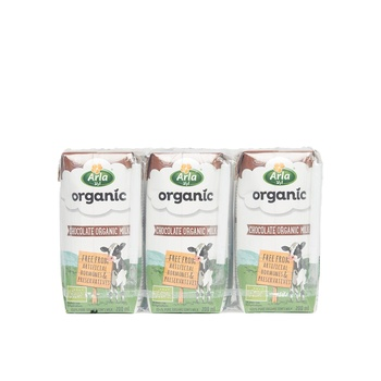 Arla Organic Chocolate Milk 6x200ml