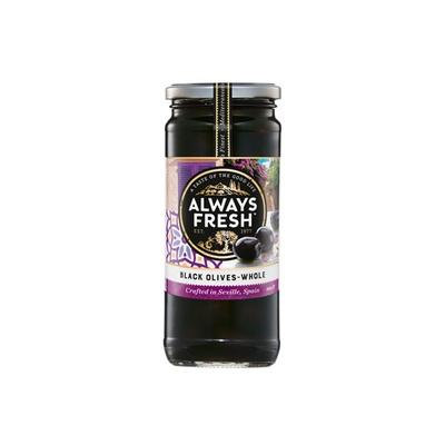 Always Fresh Black Olives  Whole 450g