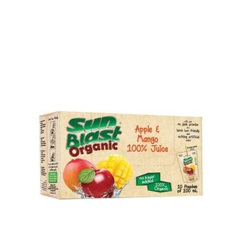 Sunblast Organic Apple & Mango 10 X 200 ml