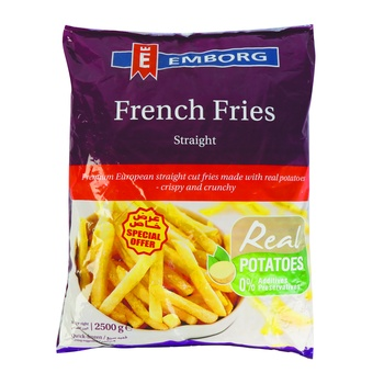 Emborg French Fries Stright Cut 2.5 kg Special Price
