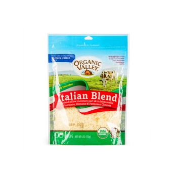 Organic Valley Cheese Shreded Italian 6Oz