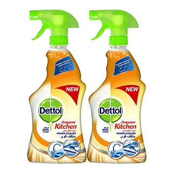 Dettol Healthy Kitchen Power Cleaner Trigger Spray Rose 500ml Twin Pack @ 40% Off