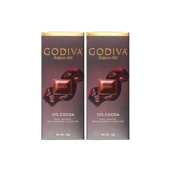 Godiva 72% Darkchoc Tab 2X90g