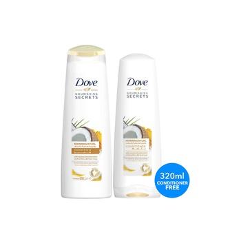Dove Cocnut Sh 400ml + 320ml Cond Free