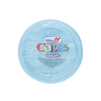Dopla Disposables Color Line  Coloured Plates 30 pcs x 20 cm  Blue (01496)
