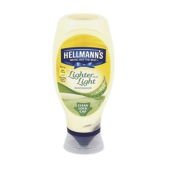 Hellman mayonnaise squeezy lighter than light 430g