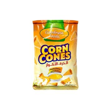 Goodness Food Corn Cones Nacho Cheese 90g