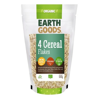 Earth Goods Organic 4 Cereal Flakes 500g