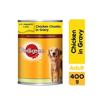 Pedigree Chicken Chunks in Gravy Wet Dog Food Can 400g