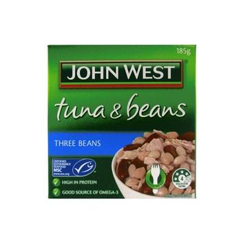 John West Tuna & Beans - Three Beans 185g
