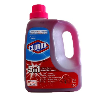 Clorox Disinfectant Cleaner Rose 5 In 1 1.5ltr