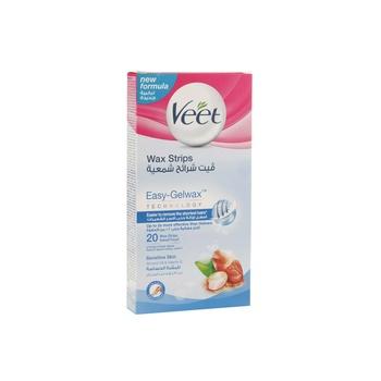 Veet Wax Strip Sensitive Skin Almond Oil & Vitamin 1 X 20pcs