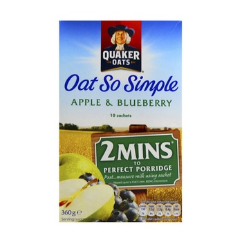 Quaker Oats Cereal So Simple Apple & Blueberry 360g