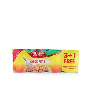 California Garden Chick Peas 3 + 1 x 440g