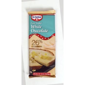 Dr. Oetker Fine Cook White Choco 150g