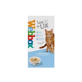 Webbox Cat Treat Lick E Lix Cream Milk & Yoghurt 75g (5Pcs)