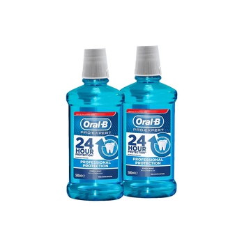 Oral-B Pro-Expert Strong Teeth Mouthwash 500ml Twin Pack