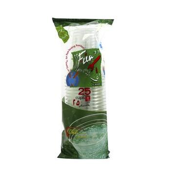 Al Bayader Clear Cups 8oz 25pcs