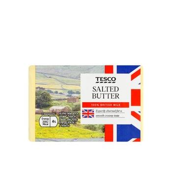 Tesco British Salted Block Butter 250g