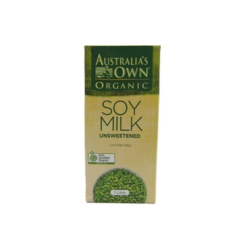 Australias Own Organic Soy Unsweetened 1 ltr