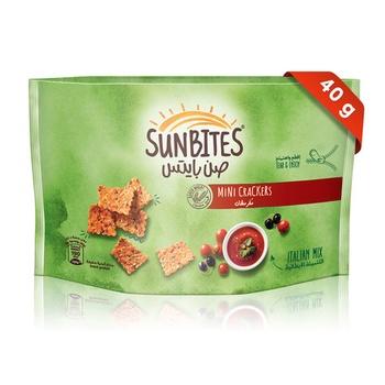 Sunbites Italian Mix Mini Crackers 40g