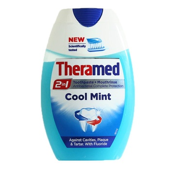 Theramed Toothpaste Plus Mouthrinse Cool Mint 2in1 75ml