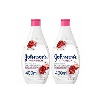 Johnsons Body Lotion - Vita-Rich Brightening Pomegranate Flower 400ml Pack Of 2