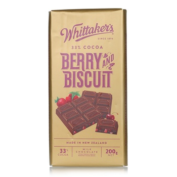 Whittakers Berry & Biscuit Bar 200g
