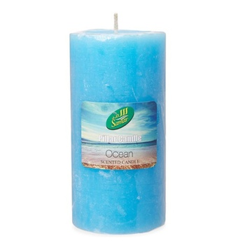 Samar Pillar Candle 7.5X15Cm Blue-Ocean
