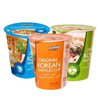 Paldo Cup Noodles Assorted 3x65g