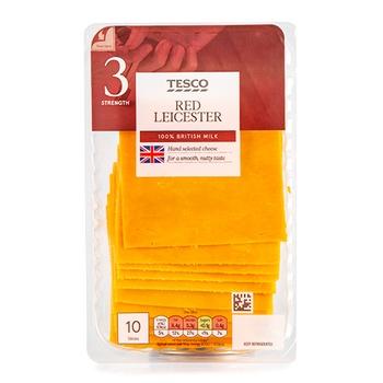 Tesco Red Leicester 10 Slce 250 G