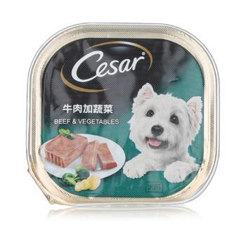 Cesar Beef and Vegetables Wet Dog Food 100g