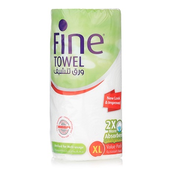 Fine Ultra Absorbent Kitchen Towel Set White 100x2Ply