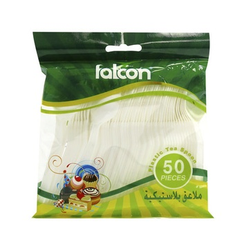 Falcon Plastic Tea Spoon 50pcs