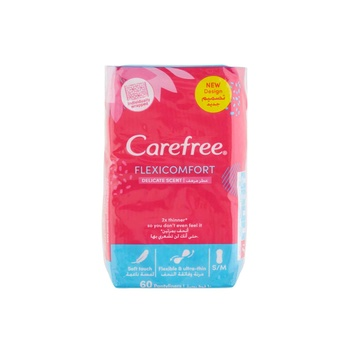 CAREFREE® Panty Liners FlexiComfort Cotton Pack of 60