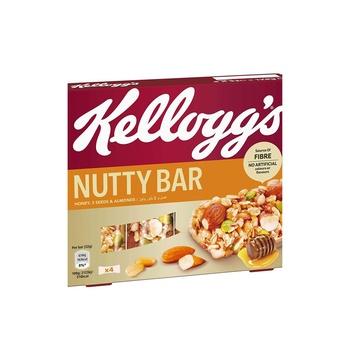 Kellogs Nutty Bar Honey &Almond  4X32g