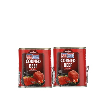 Purefoods Corned Spicy Beef (Halal) 340g Pack of 2