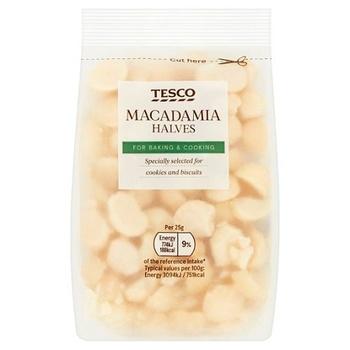 Tesco Macadamia Nut Halves 100g