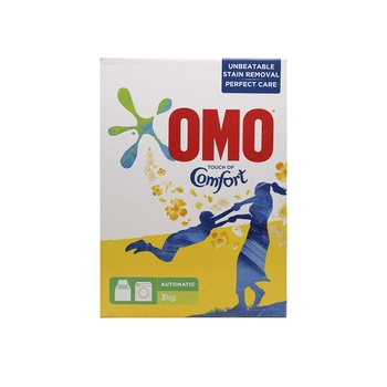 OMO Auto Active Powder Laundry Detergent With Touch Of Comfort 3kg