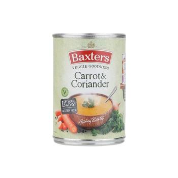 Baxters soup carrot & coriander 400g