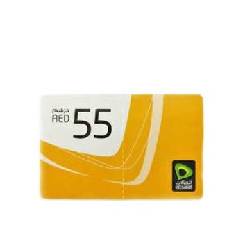 Etisalat Scratch Card 55 AED
