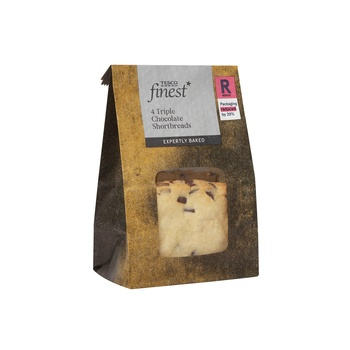 Tesco Finest Triple Chocolate Short Bread