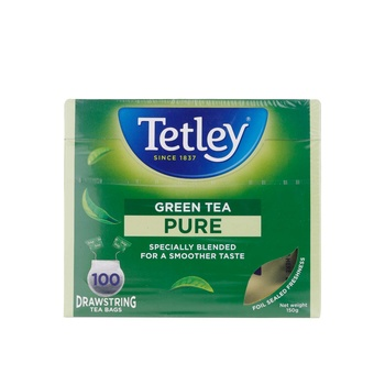 Tetley Drawstring Pure Green Tea Bags 100s