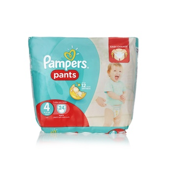 Pampers Pants Diapers Size 4 Maxi 9-14kg Carry Pack 24 Count