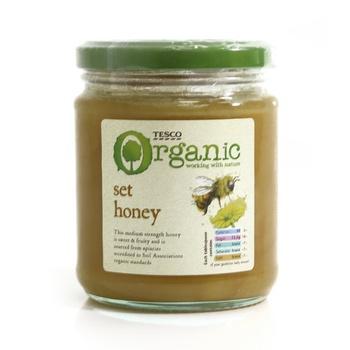 Tesco Organic Pure Set Honey 340g